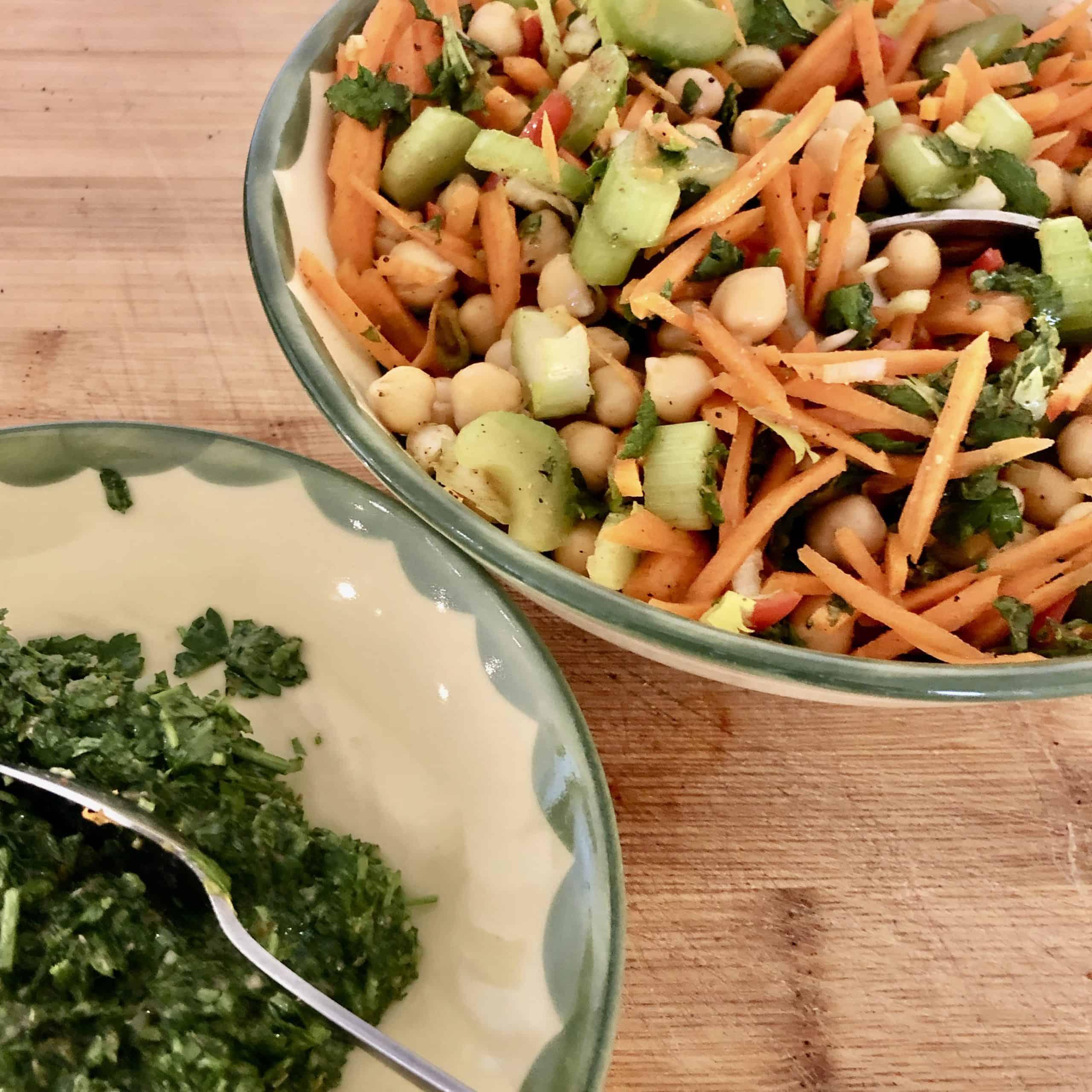 chickpea salad Salsa verde