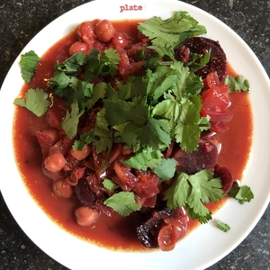 Beetroot and Chickpeas