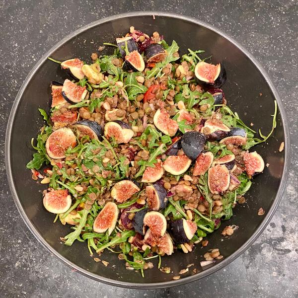 Lentil and Fig salad